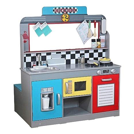 ColorBaby - Cocina madera 90 x 58 x 104 cm - Retro (85287)