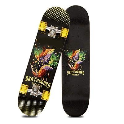 Xinxin Four-Wheel Double-warp Skateboard Adult Entertainment Skateboard : Sports & Outdoors