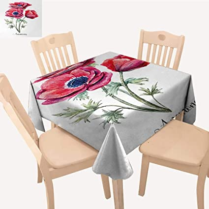 Amazon Com Anemone Flower Tassel Tablecloth Watercolor Painting