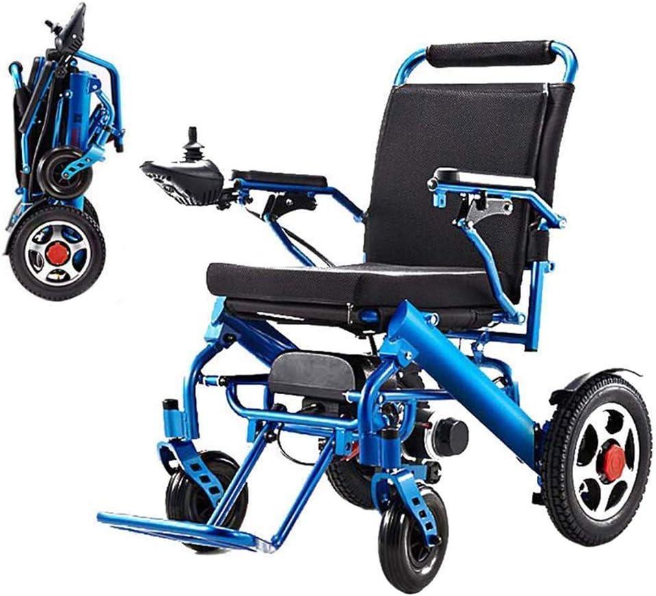 MJY Silla de ruedas portátil plegable, silla de ruedas eléctrica plegable de doble función ligera, conducir con energía eléctrica o usar como silla de ruedas manual ghk