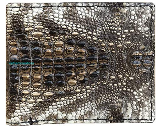 vietnamcreations RFID Blocking Genuine Alligator / Crocodile Leather Handmade Bifold Wallet for Men medium -