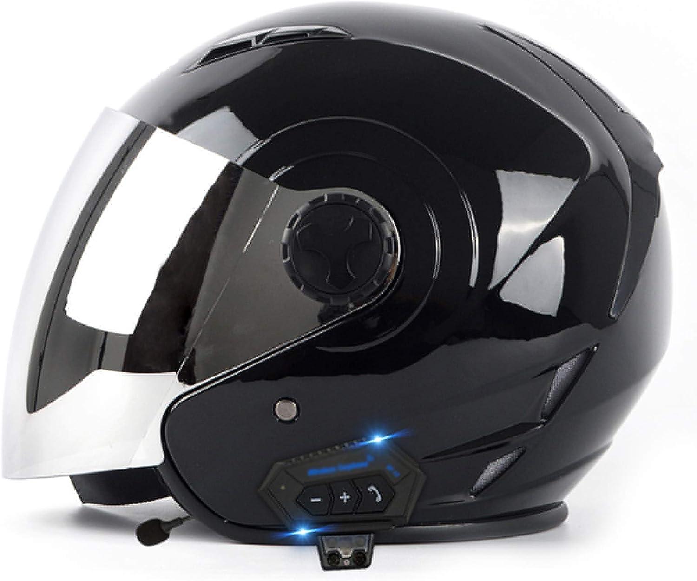 Casques de Moto int/égr/és Bluetooth Hommes et Femmes Pare-Soleil Ouvert modulaire Casque Anti-bu/ée Microphone int/égr/é Bluetooth Haut-Parleur int/égr/é R/éponse Automatique Certifi/é Dot
