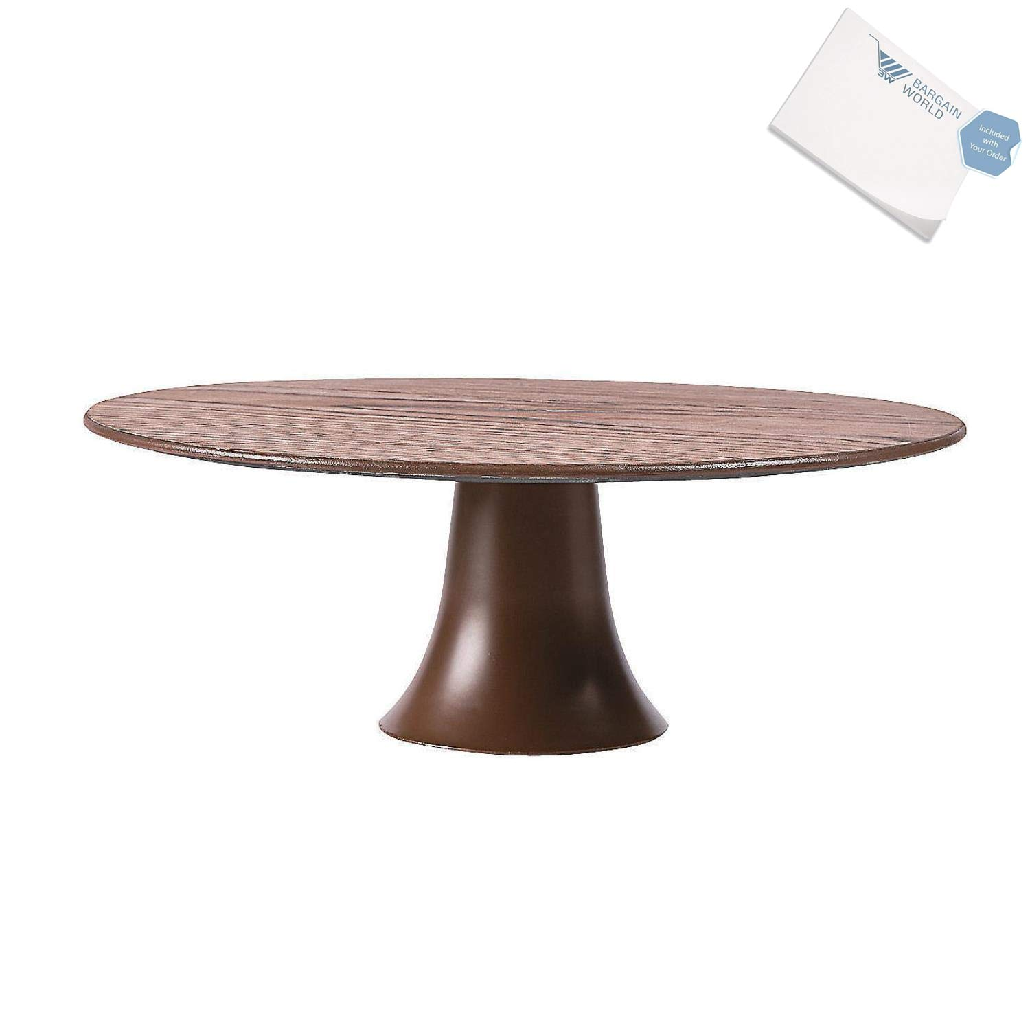Bargain World Wood Pattern Cake Stand (With Sticky Notes)