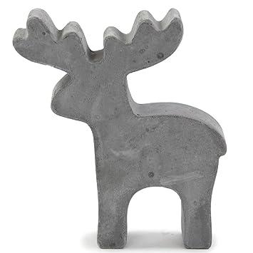 Beton Weihnachtsdeko.Rentier Figur Beton 13x2 5x15cm Grau Dekofigur Weihnachtsdeko