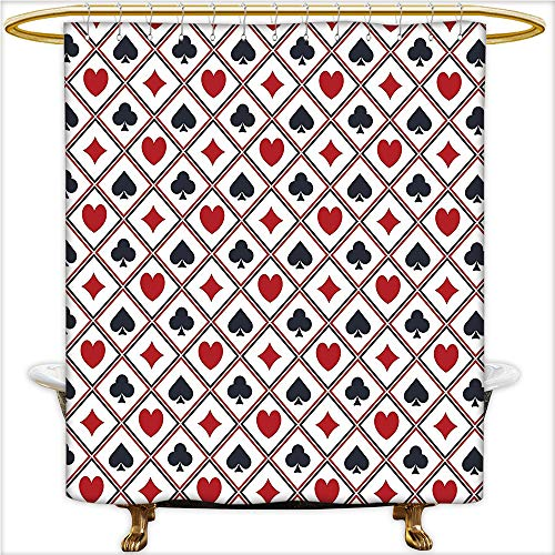 Shower Curtain Spa Holdem Gambler Success Winning Modern Stylish Design Ative Art Waterproof and Anti-Mold Polyester Bathtub with 12 Hooks.W66 x H72 Inch