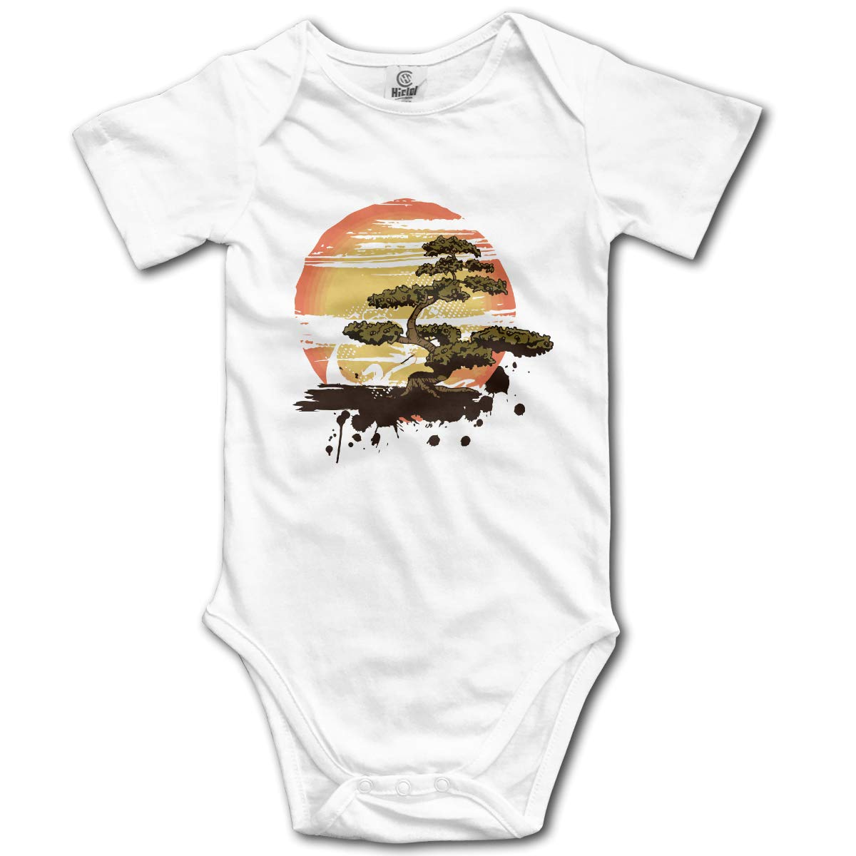 CDHL99 Bonsai Tree Newborn Infant Baby Short Sleeve Romper Pajamas 0-2T