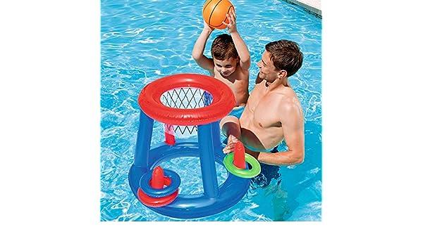 Agua Baloncesto Baloncesto Piscina Flotador Inflable Piscina ...