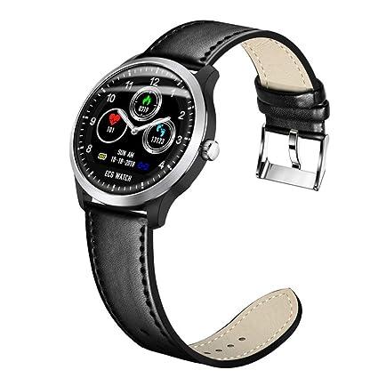 HOYHPK Reloj Inteligente Pulsera ECG Relojes Inteligentes Hombres Medición De La Frecuencia Cardíaca Pulsera Deportiva Rastreador