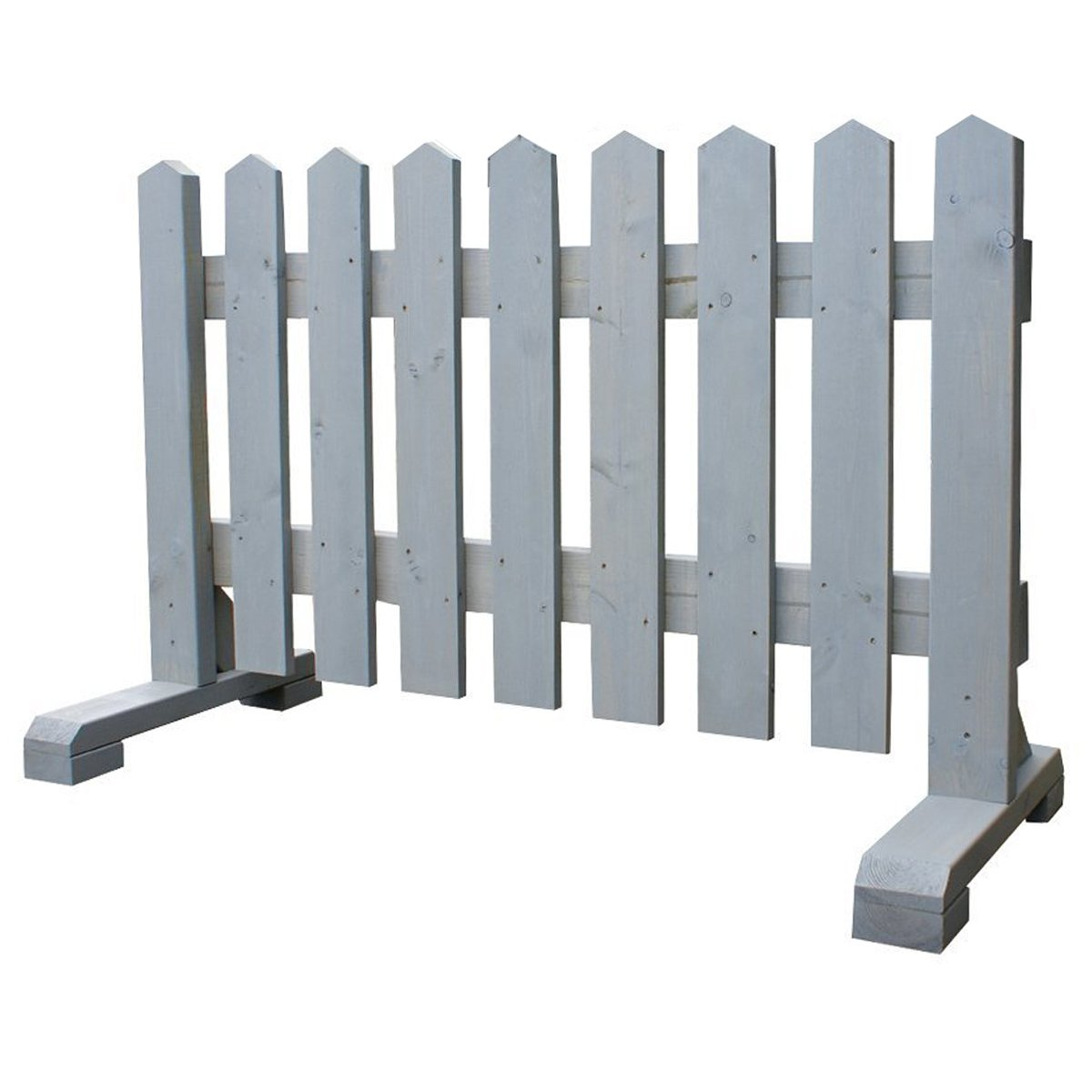 木製 ピケットフェンス -グレー- 【受注製作品】 (幅120cm) 犬 目隠し 屋外 飛び出し防止 柵 ガード さく 木製フェンス ゲート B07BQMK3JN 22800   幅120cm