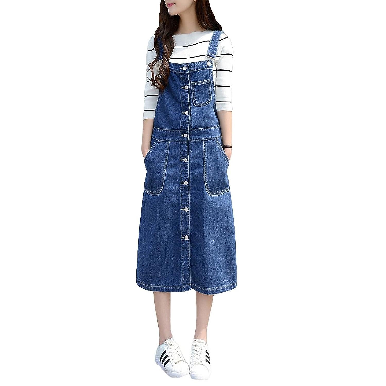 Amazon Sacing Women Plus Size Baggy Denim Overalls Loose Dress