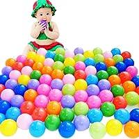 COSCELIA 100pcs Balles Colorées de Piscine Balles de Jeux Jouet Enfant