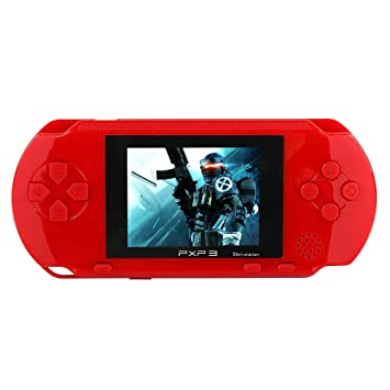 865607122a8 JouerNow Red PXP 3 Handheld Slim 16 Bit Game Console Retro Video Game 150+  Games