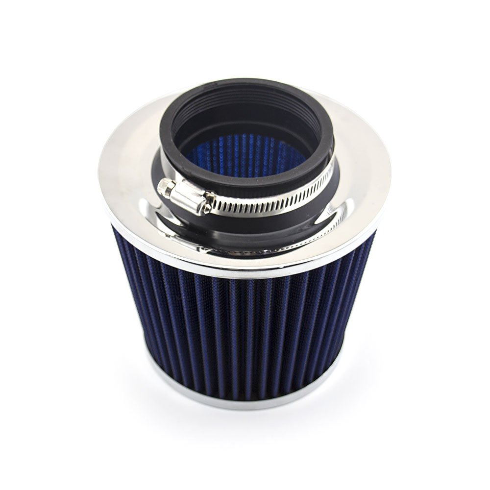 Blue DAXGD Universal Performance Cold Air Intake Filter Alumimum Induction Pipe