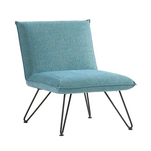 DRAWER Silla de diseño (Fletcher, Azul Turquesa, 83 x 65 x ...