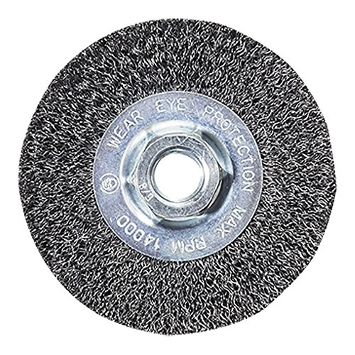 Angle Grinder Wire Wheel - Mercer Industries 187010 Crimped Wire Wheel, 4