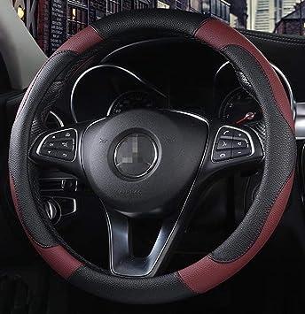 Funda para volante de coche de piel sint/ética antideslizante con aguja e hilo.