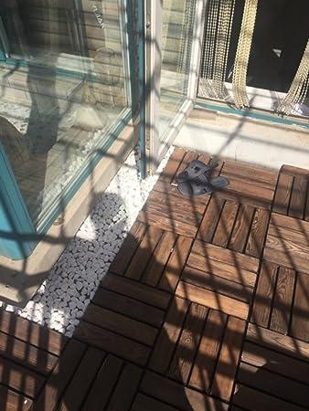 Suelo de madera para exteriores para balcón, terraza o patio o jardín o suelo de madera anticorrosivo.: Amazon.es: Bricolaje y herramientas