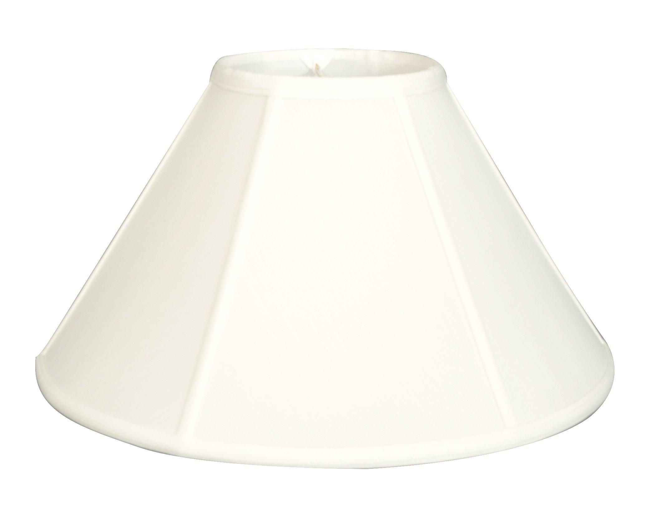 Royal Designs Empire Wall Lamp Shade - White - 5 x 13 x 8