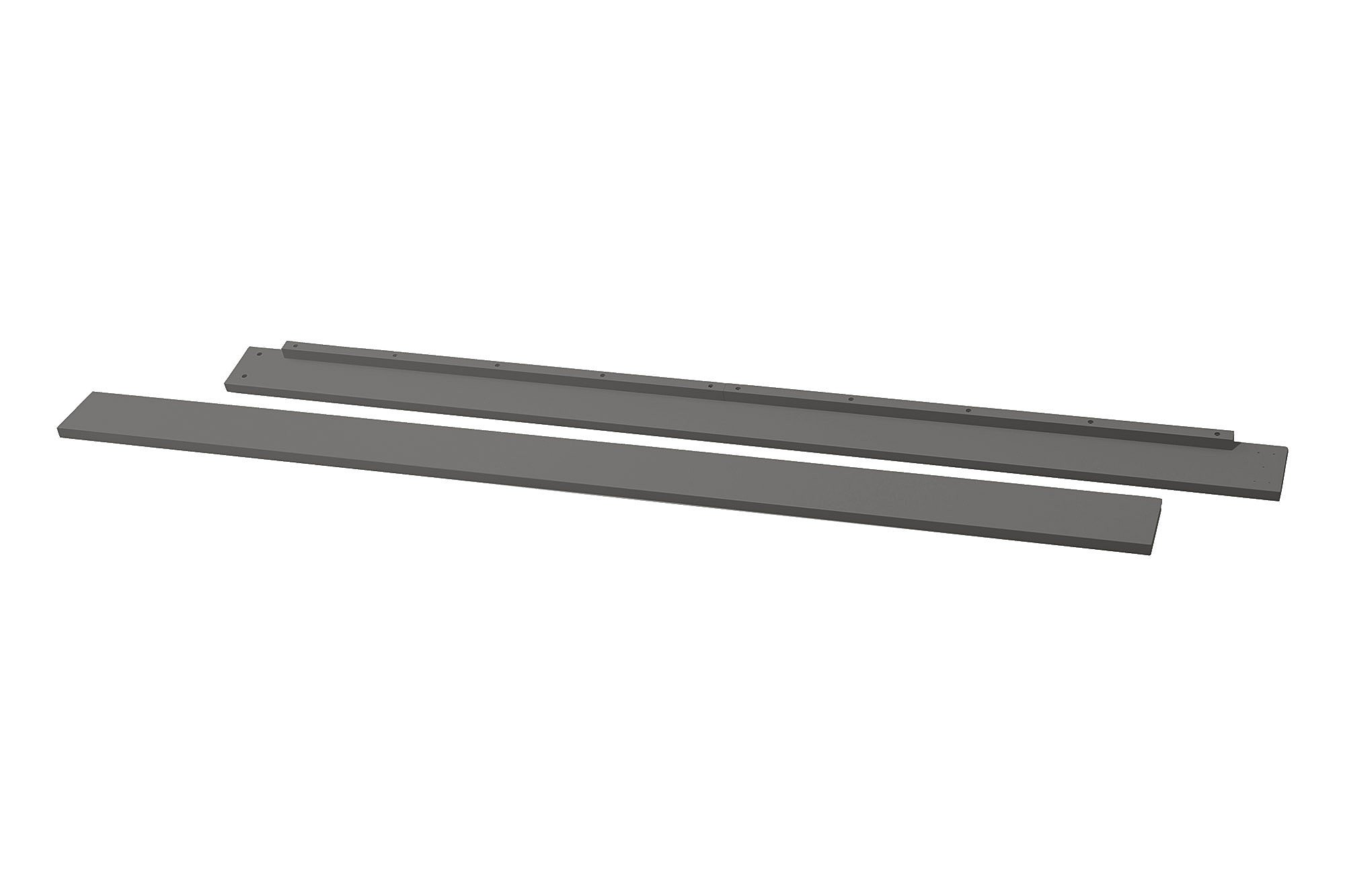 Full Size Conversion Kit Bed Rails for Million Dollar Baby Ashbury, Etienne, Foothill, Louis & Wembley Cribs - Manor Grey/Slate