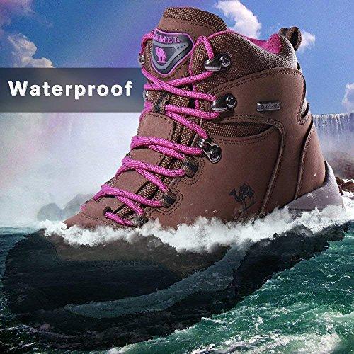 para Senderismo de Zapatos CAMEL Mujer púrpura de Mujer High Botas Adventurer CROWN Senderismo Botas Rise Marrón para n4qHOx