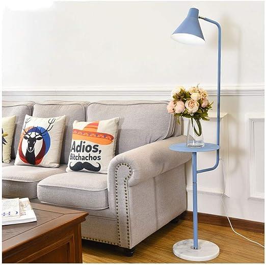 Lámparas de pie Lámpara de pie Moderna de la luz del Piso con Mesa ...
