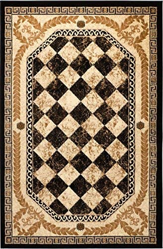 Summit New 33 Area Rug Black Diamond Modern Abstract Many Aprx Sizes Available , 8 X 11 ACTUAL IS 7 .4 X 10 .6