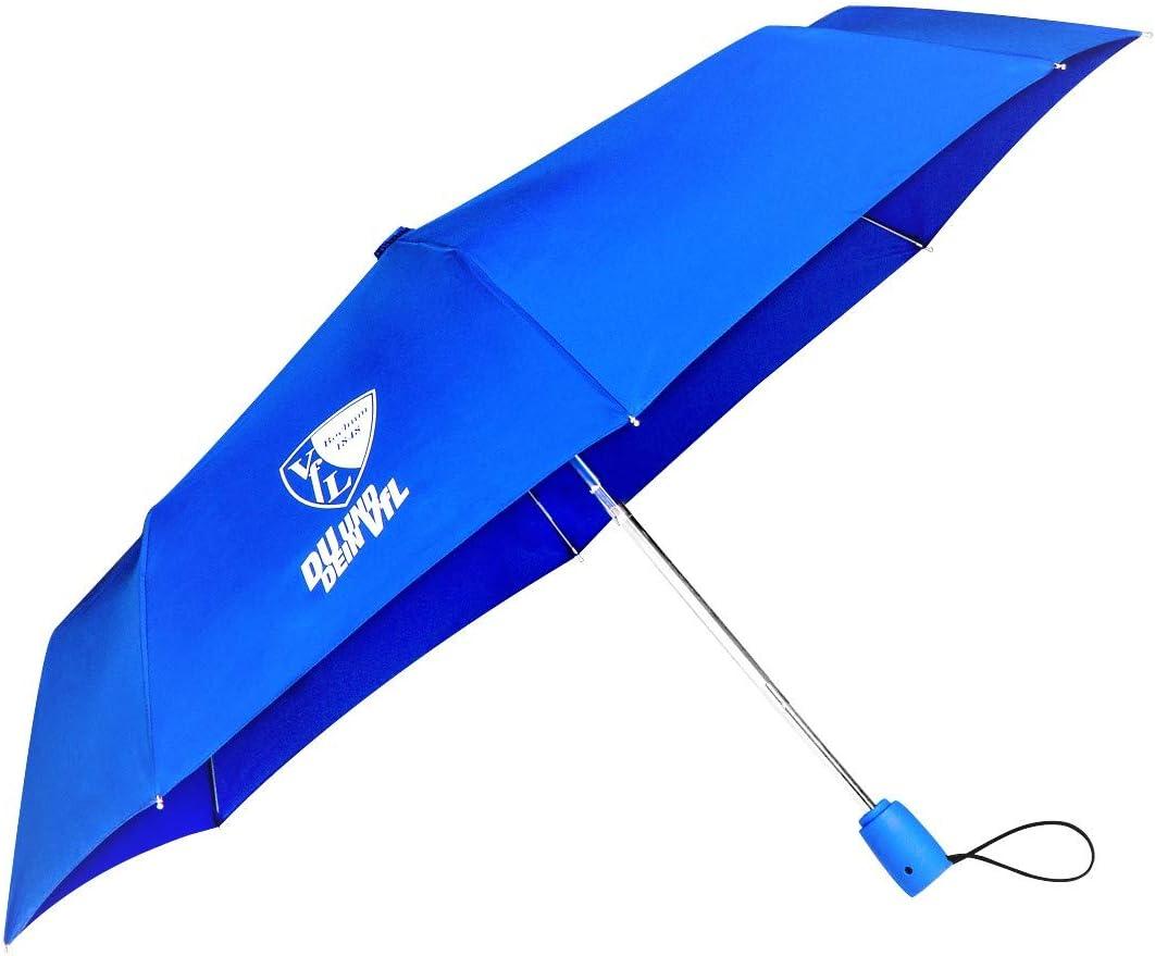 VfL Bochum 1848 Mini-Taschenschirm Du und Dein VFL Regenschirm Automatik-Schirm Fan-Artikel Stadion Regen Schutz Sportplatz Geschenk-Idee