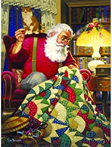 Quilting Santa 1000 pc Jigsaw Puzzle