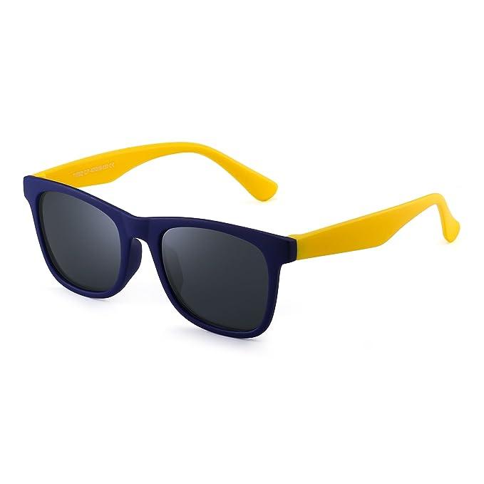 Polarizadas Niños Gafas de Sol Goma Chicas Chicos Hijos Flexible Anteojos Años 3-12(