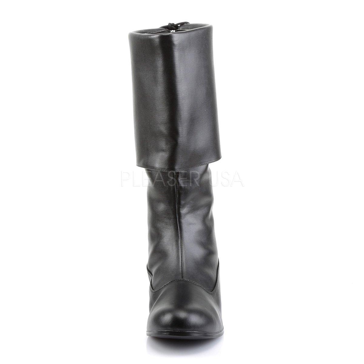 Funtasma Mens Pirate-100 Calf-High Boot Black