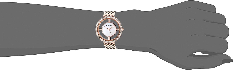 Armitron Women's Swarovski Crystal Accented Two-Tone Bracelet Watch Rose Gold