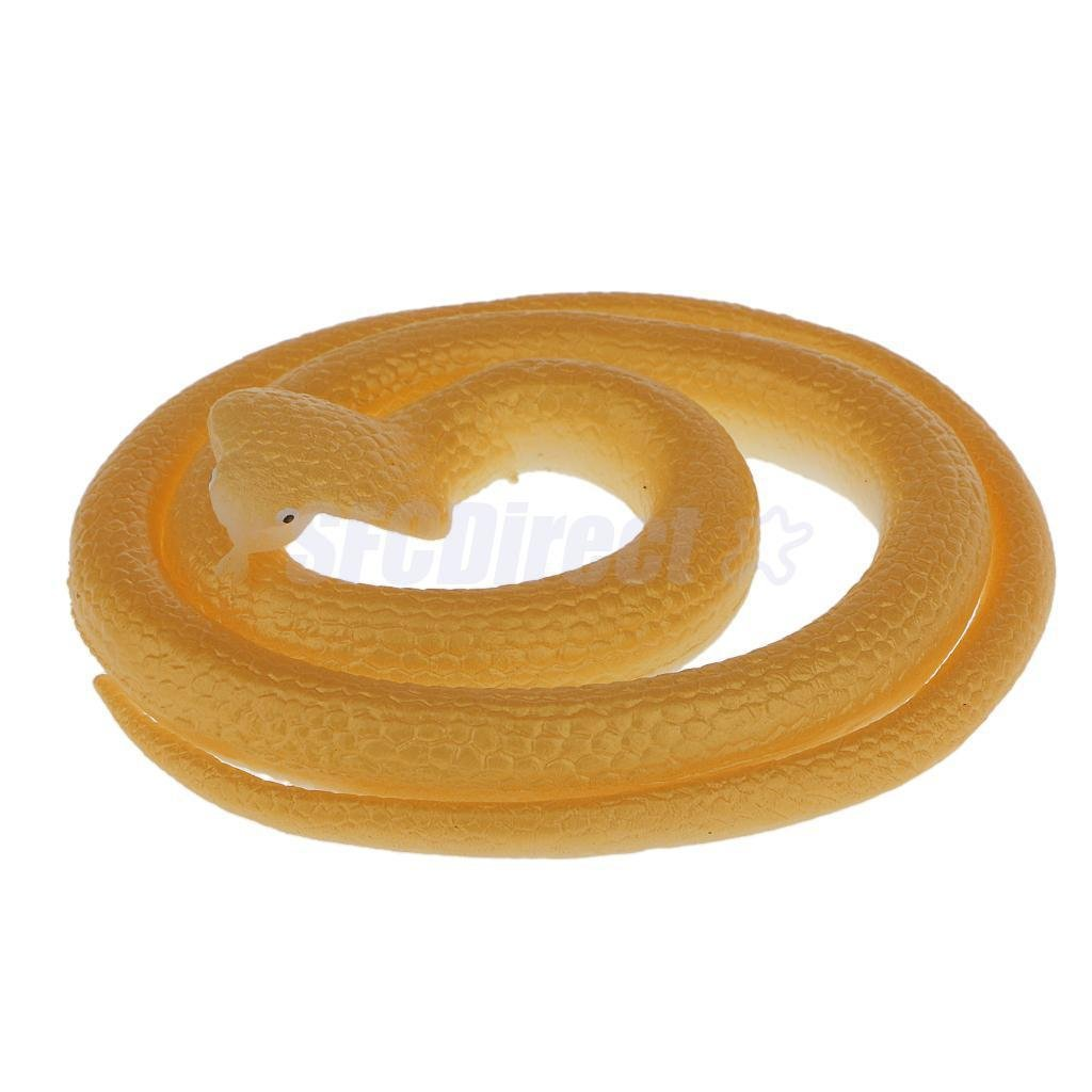 Simulation Plastic Cobra Snake Kids Outdoor Game Animal Toy Party Props Flourescent Green