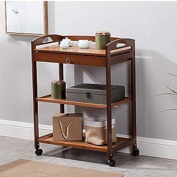 Bookcase HUO Mobile Bookshelf With Wheel Cart Dining Car Floor Magazine Rack