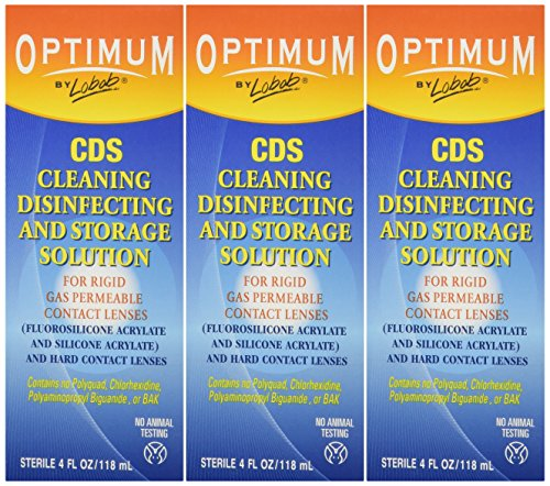 Lobob Optimum Cleaning Disinfecting and Storage Solution, 4 oz. (Pack of 3)
