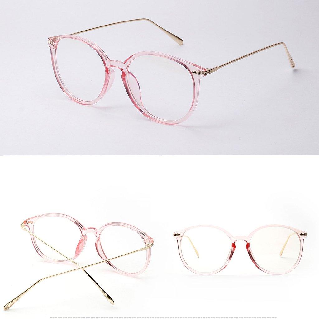 Gazechimp Metall klare Linse Brille Klassisches Rund Rahmen Glasses ...