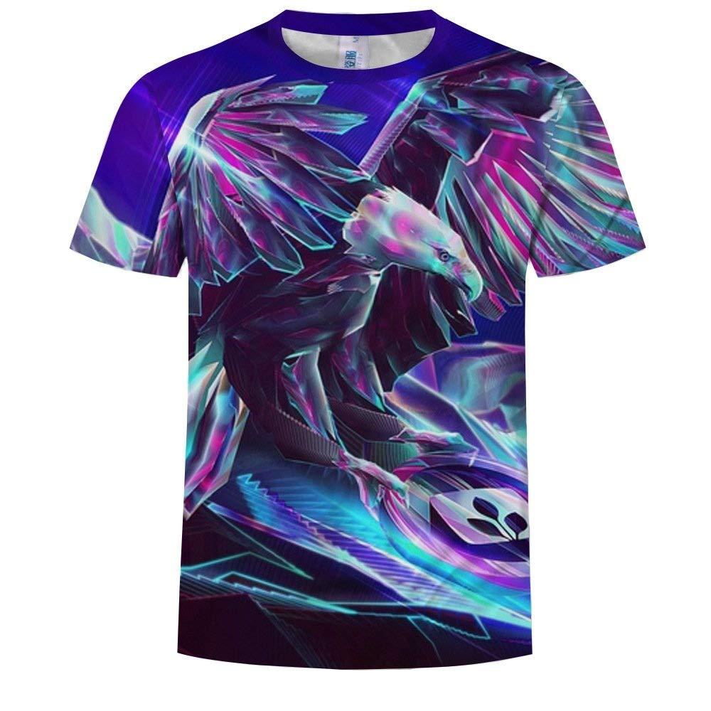 NANWUGAO 3D T-Shirt Short Sleeve T-Shirt Novelty Eagle Crewneck Graphic Casual Printed Tee Tops Short Sleeve Tees