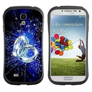 Suave TPU GEL Carcasa Funda Silicona Blando Estuche Caso de protección (para) Samsung Galaxy S4 I9500 / CECELL Phone case / / Blue Ring /