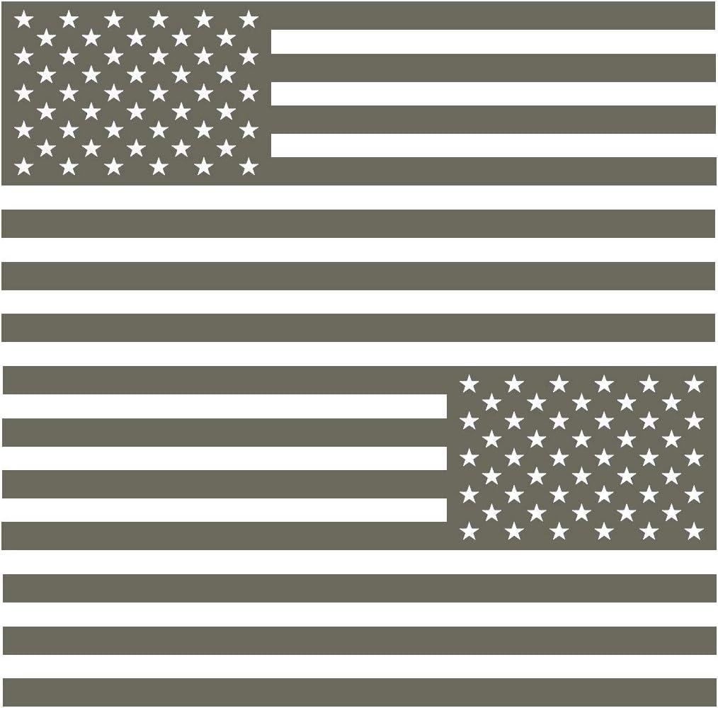 Black Hills Outpost USA Flag Sticker 5x 3 Gray 2 Pack
