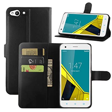 quality design 9612d d6f3e HualuBro Vodafone Smart Ultra 6 Phone Case, Premium PU Leather Wallet Flip  Phone Protective Case Cover for Vodafone Smart Ultra 6 with Kickstand, Card  ...