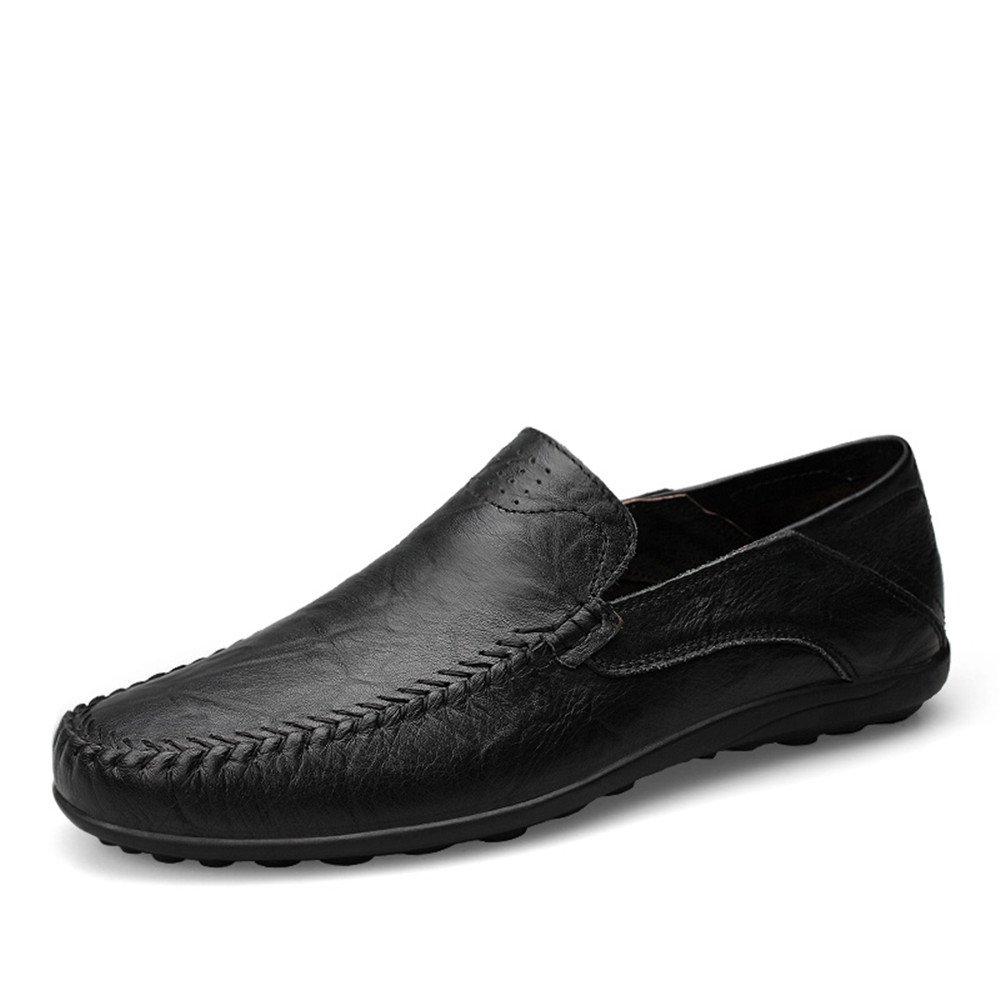 Slipper de Deslizamiento de los Mocasines Casuales del diseño de la Moda de los Hombres en la Zapatilla del holgazán de la conducción 43 EU Negro