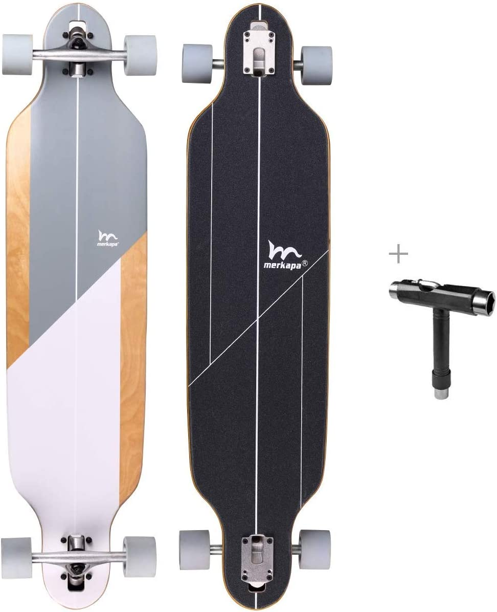 M Merkapa 41 Inch Drop-Through Longboard Skateboard Cruiser