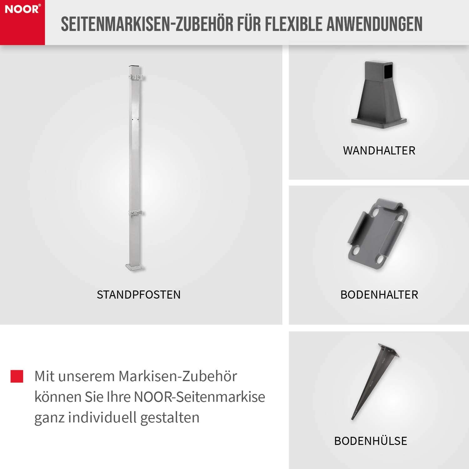 Amazon De Noor Bodenhalterung Adapter Fur Die Seitenmarkise