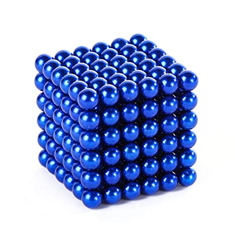 Autism Crafts ADHD Education and Intelligence Development- Desk Sculpture Toy Provides Relief for Office Stress MagneBalls 5MM Magnetic Ball Set Perfect for Jewlery Gold and Anxiety