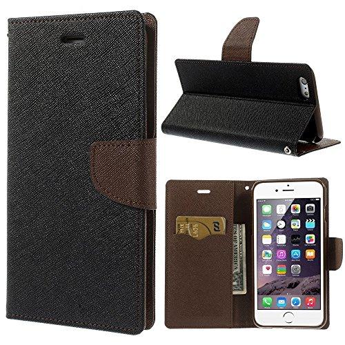 Spicesun Fancy Diary Wallet Flip Cover for Mi Redmi Note 3 BROWN :: BLACK