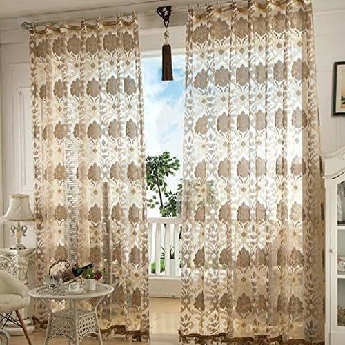 Amazon.com: Beautiful Sheer Curtains Tulle Fabric Window