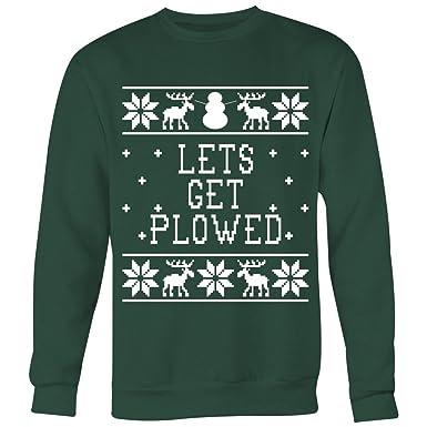 Lets Get Plowed - Unisex Ugly Christmas Sweatshirt FqziLi8AI4