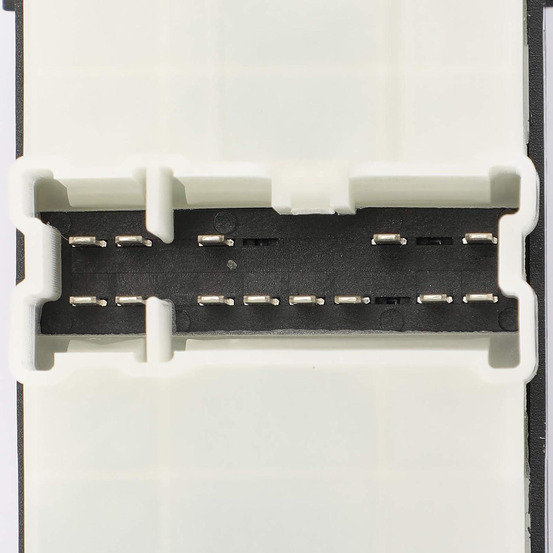 Topteng Interruttore Finestra Elettrico Interruttore di Finestrino Master con Lato Sinistra Maestro Lifter Controllo pulsante per Ni-ssan Navara Pathfinder Qashqai