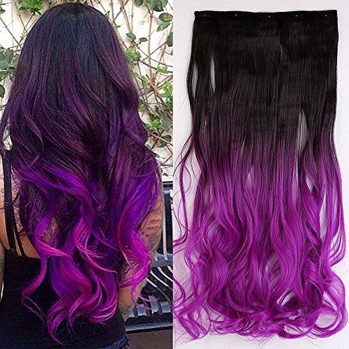 23 In (Black To Purple Hair)