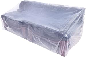 AKEfit Plastic Thicker Sofa Couch Cover, Waterproof Clear Furniture Protective Cover, Patio Sectional Sofa Slipover, Perfect for Storage & Moving Protection Against Pets Scratching 68