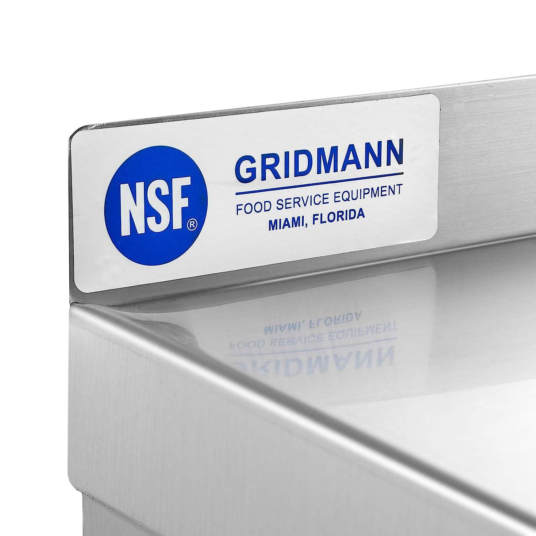 12 x 24 GRIDMANN NSF Stainless Steel Kitchen Wall Mount Shelf Commercial Restaurant Bar w//Backsplash